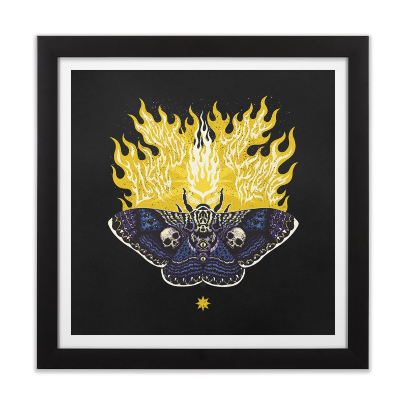 Like Moths to a Flame Home Framed Fine Art Print by Curiosity Supply Co.