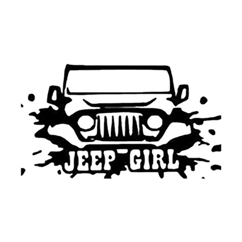 Jeep Girl Decal Clear Accessories Sticker by Custom Cars USA Clothing