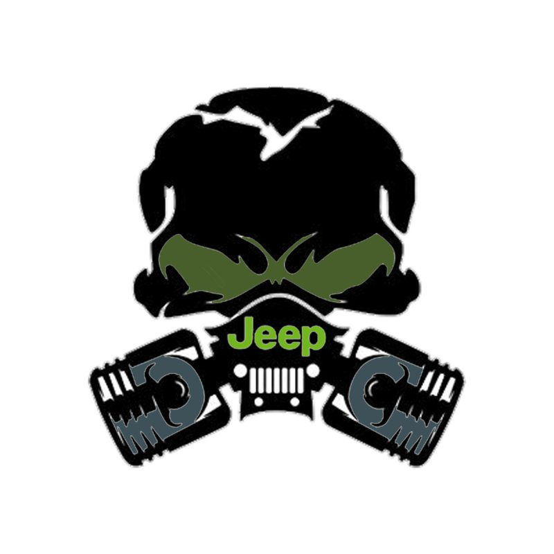 Jeep Skull Decal Accessories Sticker by Custom Cars USA Clothing