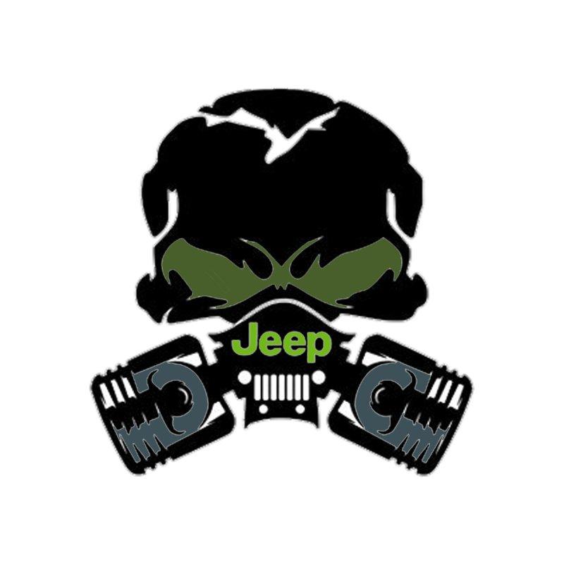 Jeep Skull T Men's Men's T-Shirt by Custom Cars USA Clothing