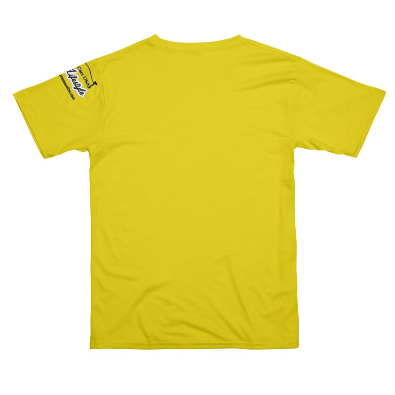 Pittsburgh P T-Shirt Yellow Men's Cut & Sew by Custom Cars USA Clothing
