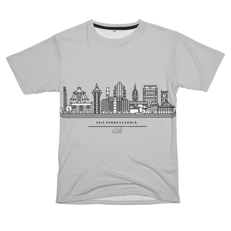Erie PA City T-Shirt Men's Cut & Sew by Custom Cars USA Clothing