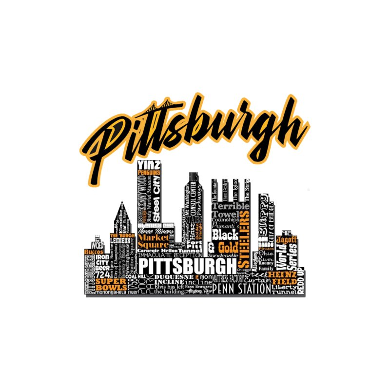 Pittsburgh City T Men's T-Shirt by Custom Cars USA Clothing