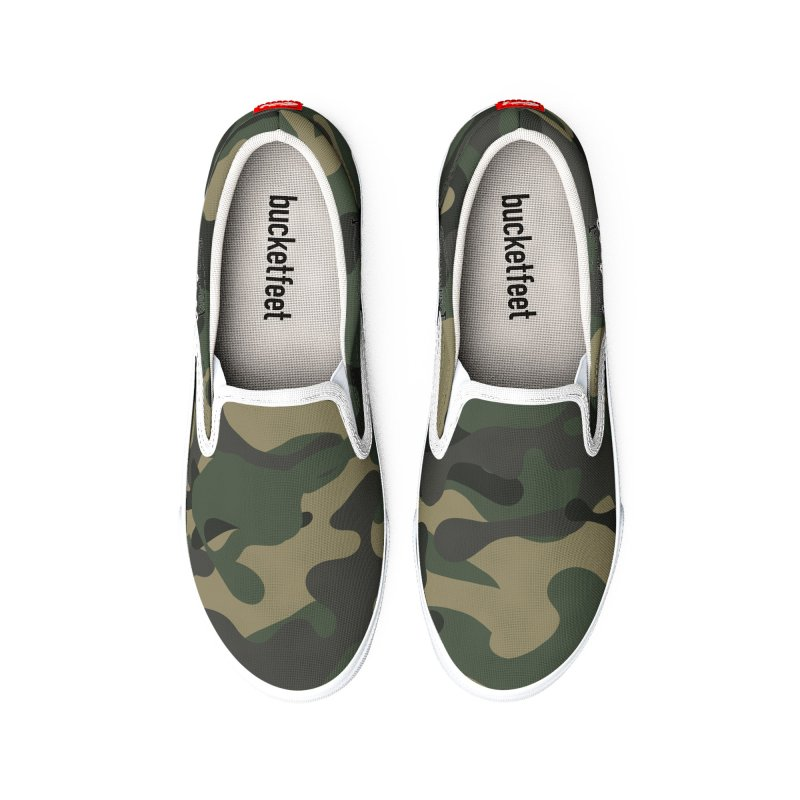 Camo Shoes Men's Shoes by Custom Cars USA Clothing