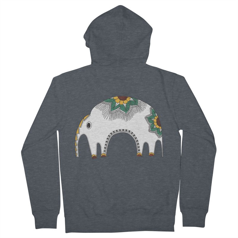 Stylish Elephant Women's Zip-Up Hoody by Cutedesigning's Artist Shop