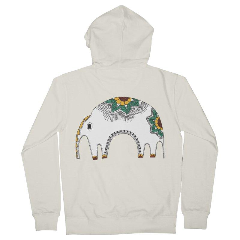 Stylish Elephant Women's Zip-Up Hoody by Cutedesigning's Artist Shop