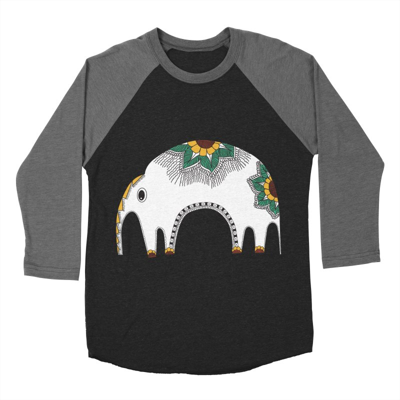 Stylish Elephant Women's Baseball Triblend T-Shirt by Cutedesigning's Artist Shop