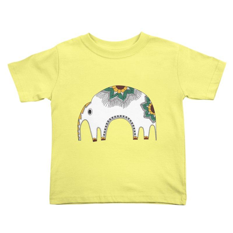 Stylish Elephant Kids Toddler T-Shirt by Cutedesigning's Artist Shop