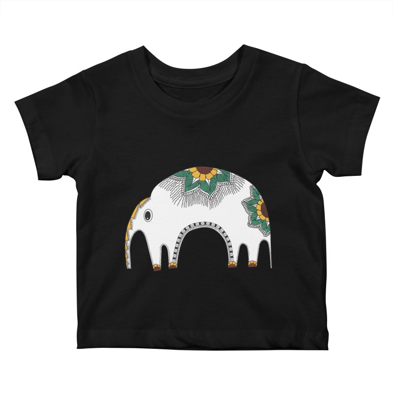 Stylish Elephant Kids Baby T-Shirt by Cutedesigning's Artist Shop