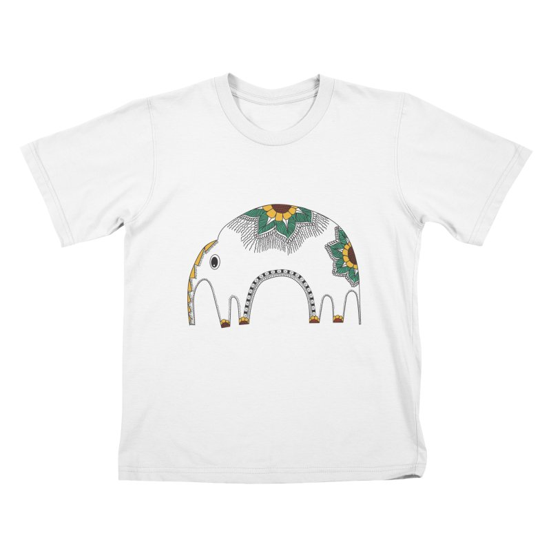 Stylish Elephant Kids T-Shirt by Cutedesigning's Artist Shop