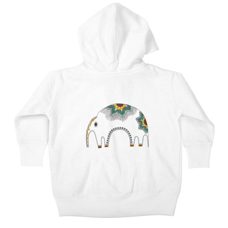 Stylish Elephant Kids Baby Zip-Up Hoody by Cutedesigning's Artist Shop