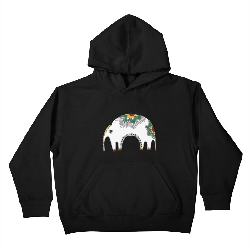 Stylish Elephant Kids Pullover Hoody by Cutedesigning's Artist Shop