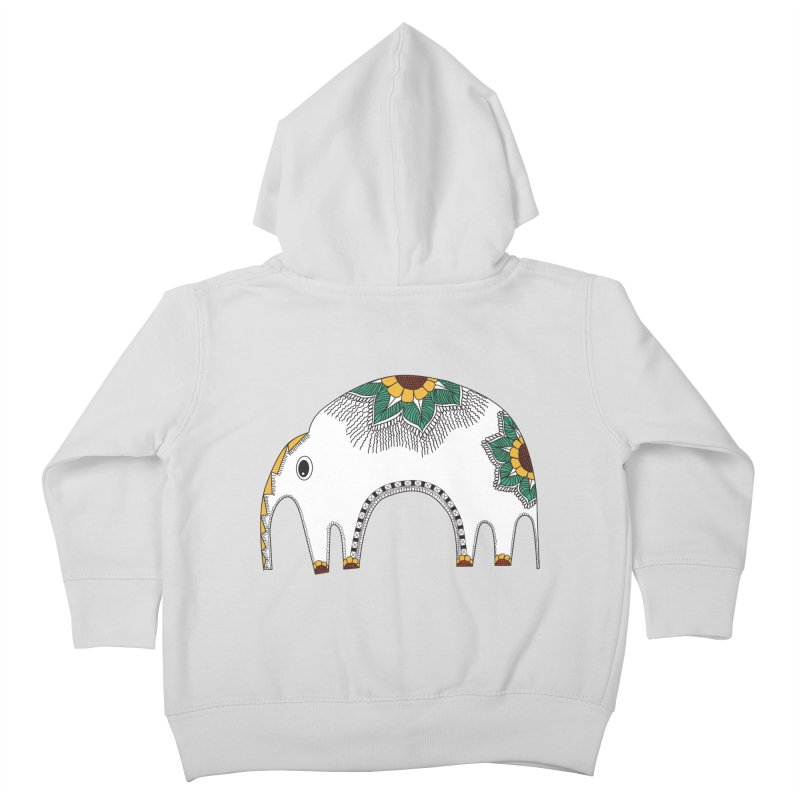 Stylish Elephant Kids Toddler Zip-Up Hoody by Cutedesigning's Artist Shop