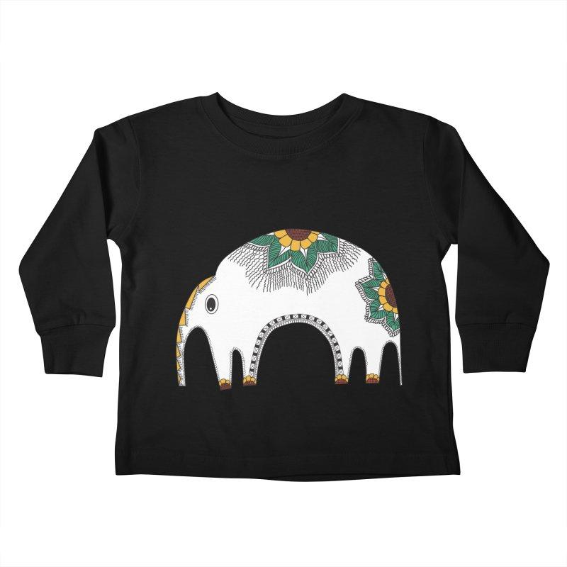 Stylish Elephant Kids Toddler Longsleeve T-Shirt by Cutedesigning's Artist Shop