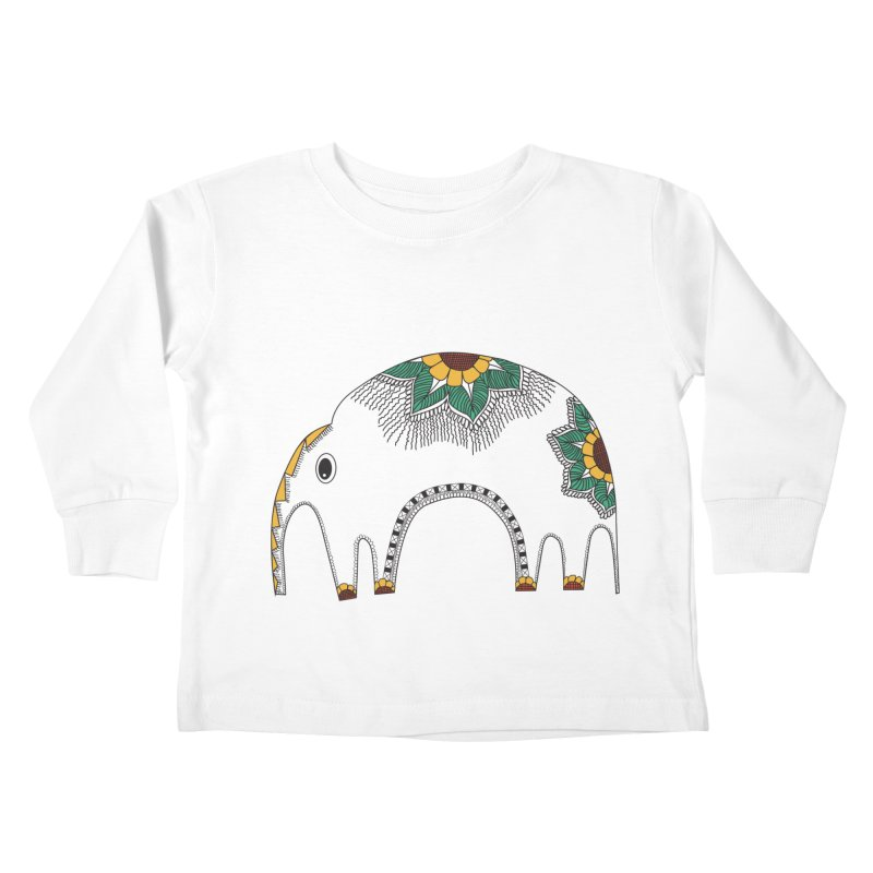 Stylish Elephant Kids Toddler Longsleeve T-Shirt by Cutedesigning's Artist Shop
