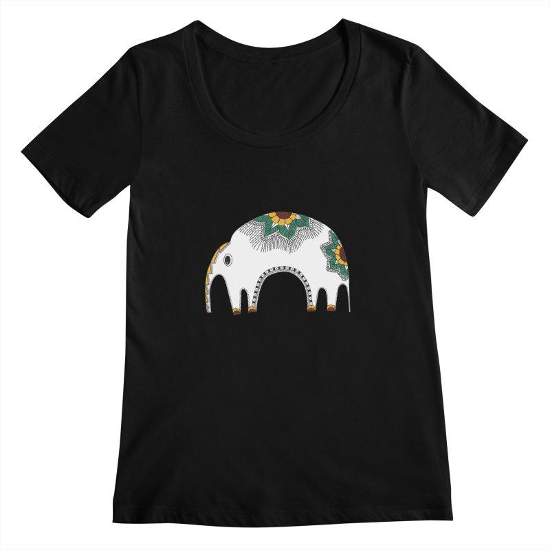 Stylish Elephant Women's Scoopneck by Cutedesigning's Artist Shop