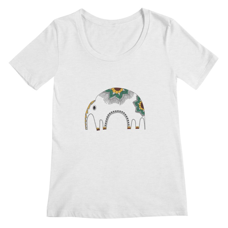 Stylish Elephant Women's Scoopneck by Cutedesigning's Artist Shop