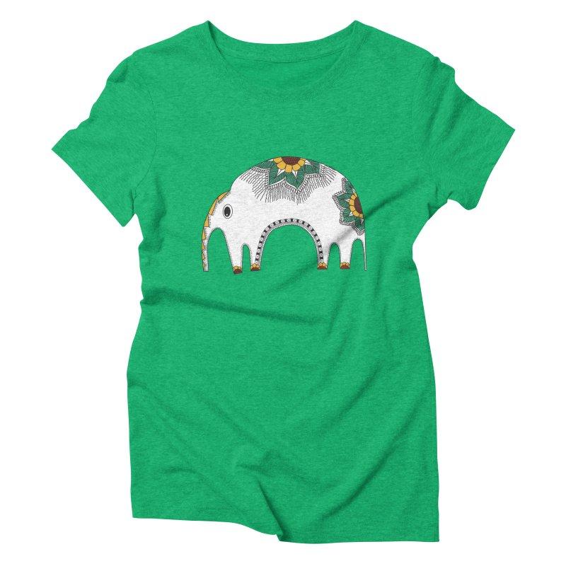 Stylish Elephant Women's Triblend T-shirt by Cutedesigning's Artist Shop