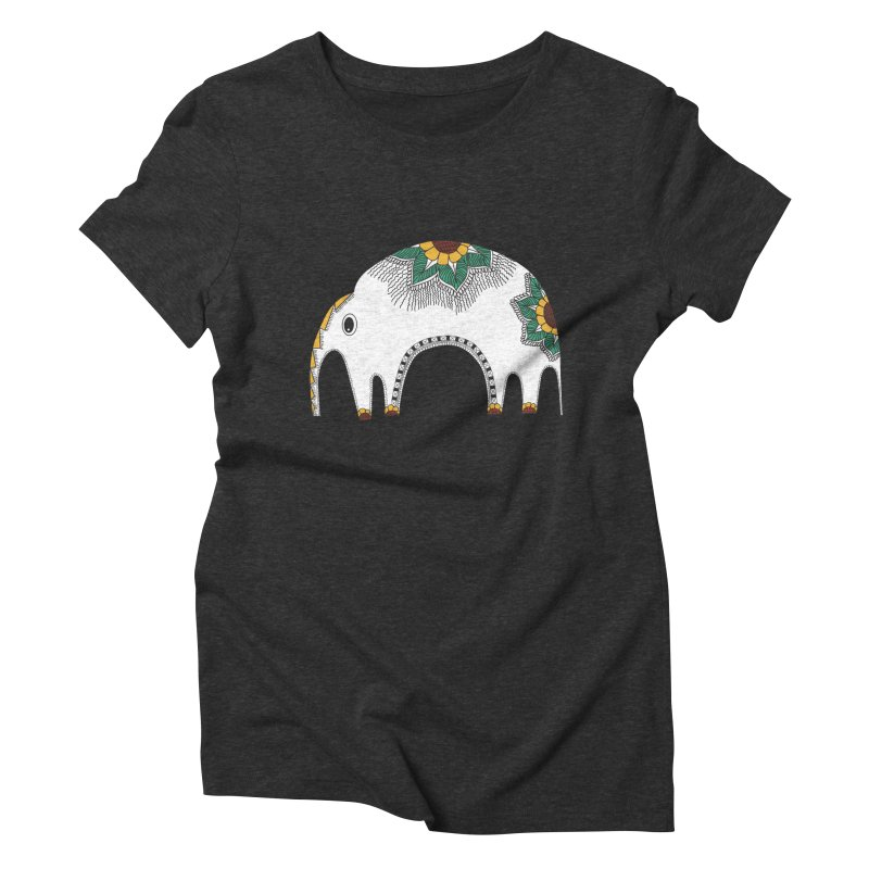 Stylish Elephant Women's Triblend T-Shirt by Cutedesigning's Artist Shop