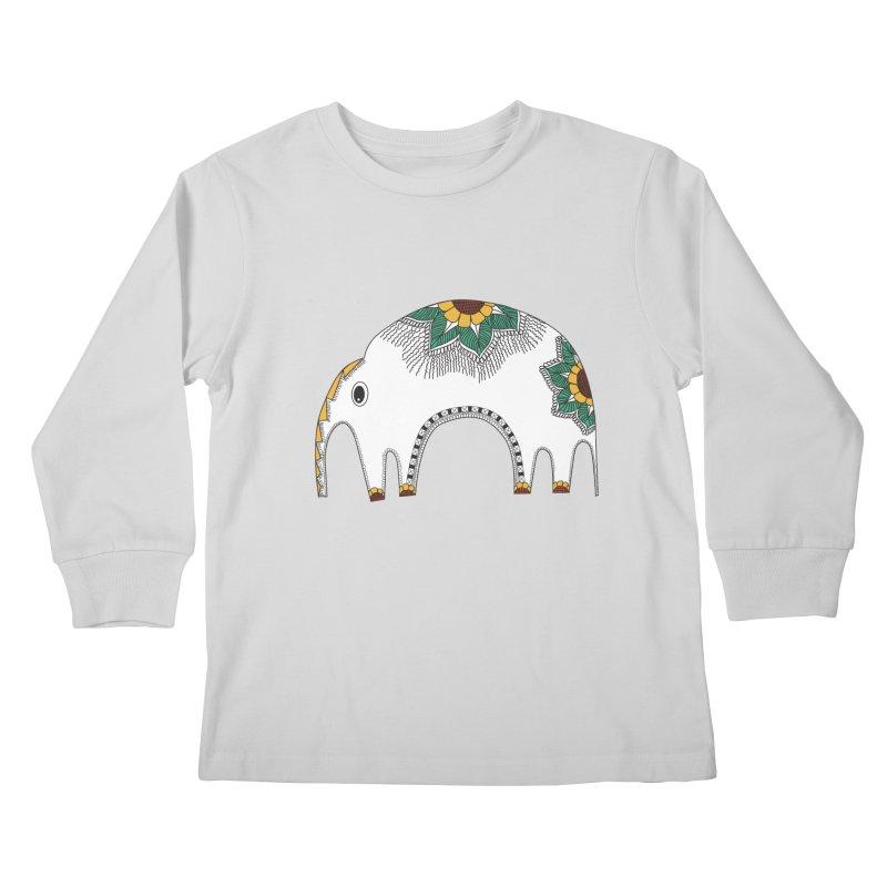 Stylish Elephant Kids Longsleeve T-Shirt by Cutedesigning's Artist Shop