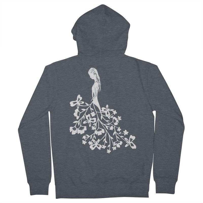 Flower Angel Women's Zip-Up Hoody by Cutedesigning's Artist Shop
