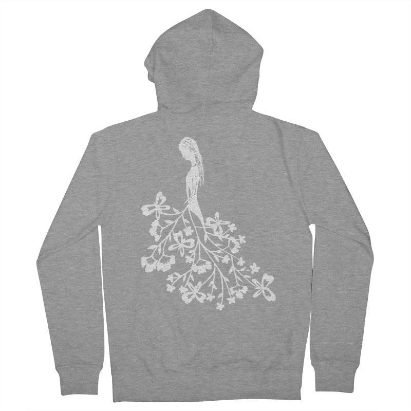 Flower Angel Women's Zip-Up Hoody by Cutedesigning's Artist Shop