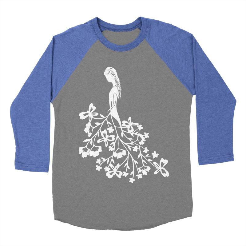 Flower Angel Women's Baseball Triblend T-Shirt by Cutedesigning's Artist Shop