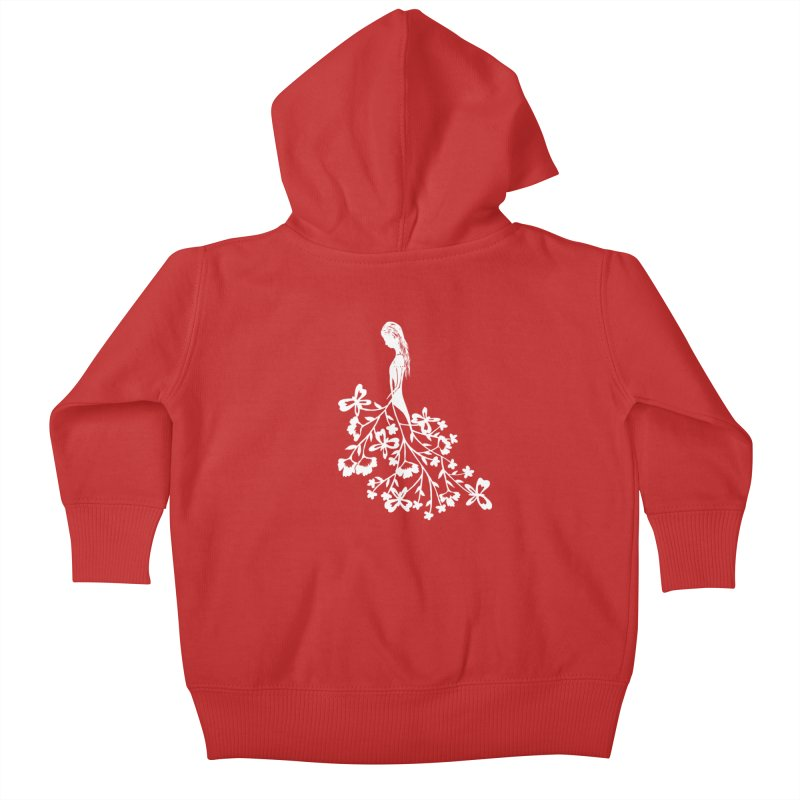 Flower Angel Kids Baby Zip-Up Hoody by Cutedesigning's Artist Shop
