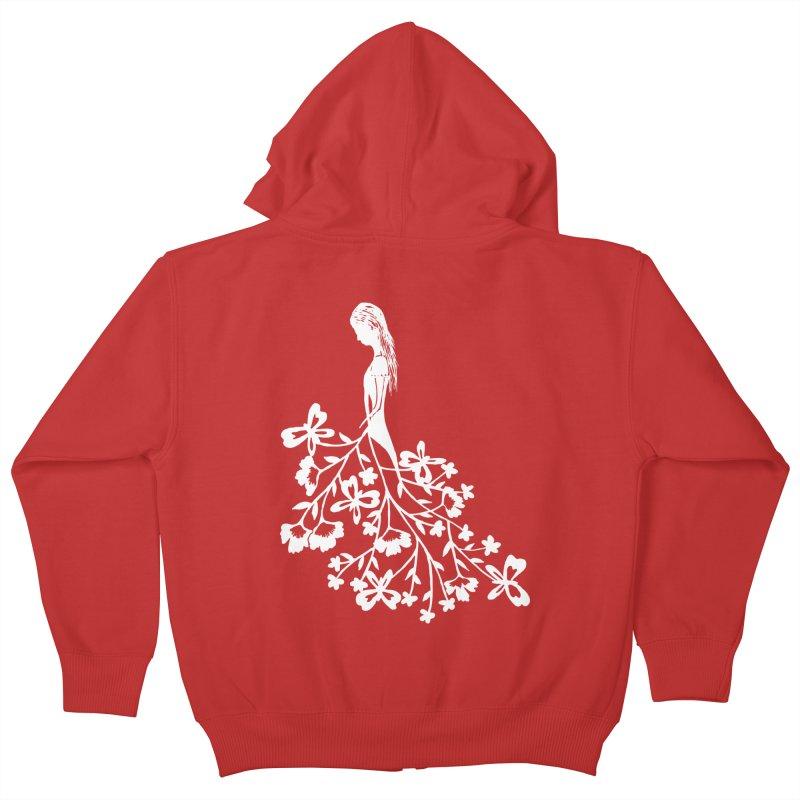 Flower Angel Kids Zip-Up Hoody by Cutedesigning's Artist Shop