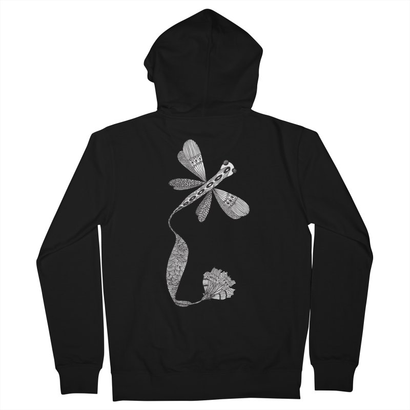 Stylish Dragonfly Women's Zip-Up Hoody by Cutedesigning's Artist Shop