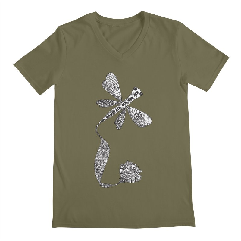 Stylish Dragonfly Men's V-Neck by Cutedesigning's Artist Shop
