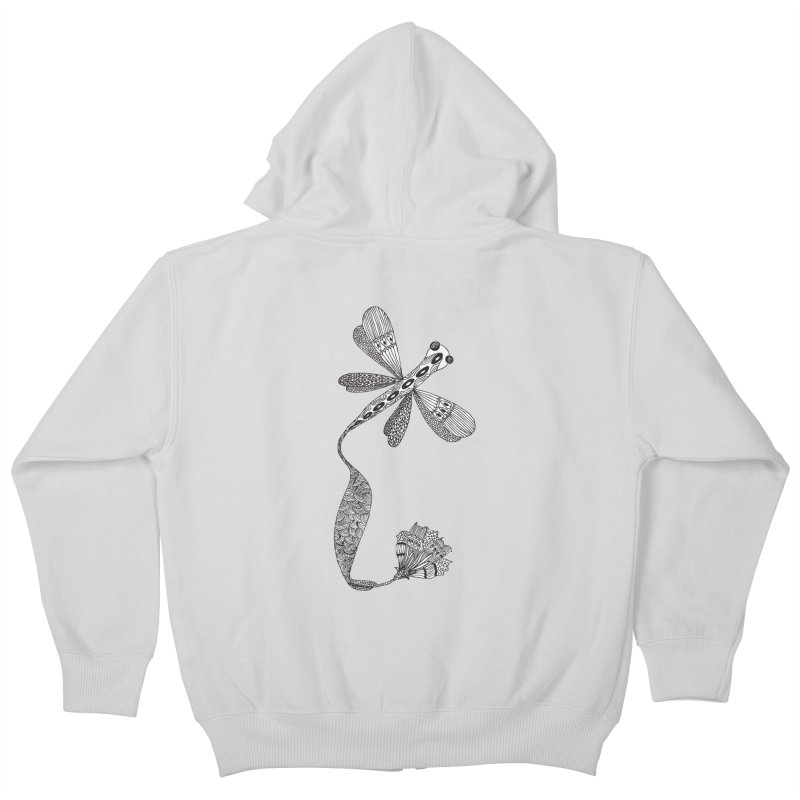 Stylish Dragonfly Kids Zip-Up Hoody by Cutedesigning's Artist Shop