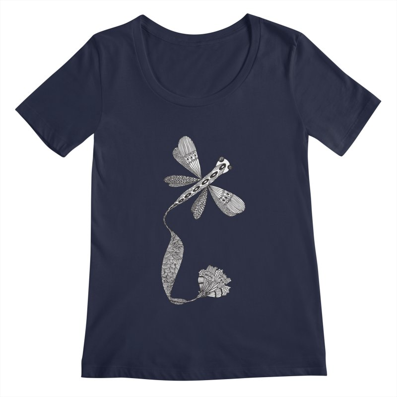 Stylish Dragonfly Women's Scoopneck by Cutedesigning's Artist Shop