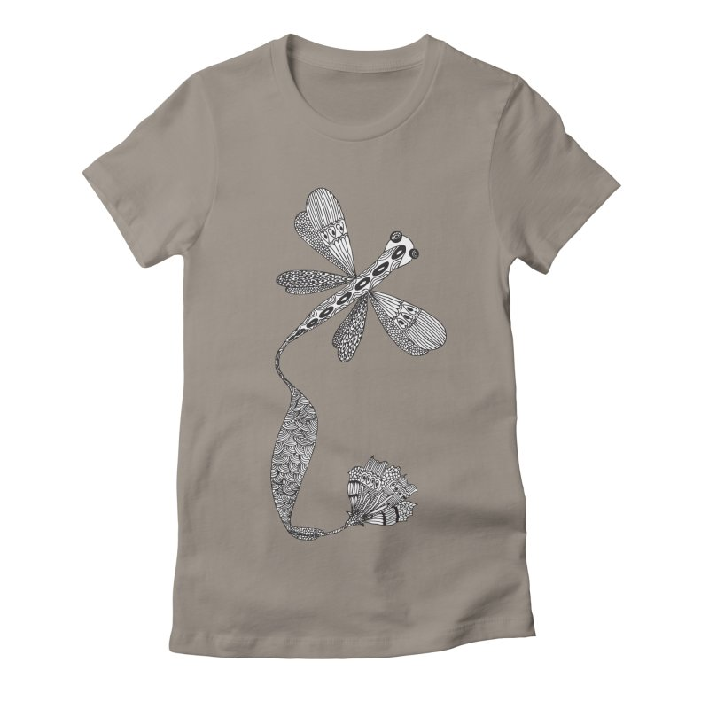 Stylish Dragonfly Women's Fitted T-Shirt by Cutedesigning's Artist Shop
