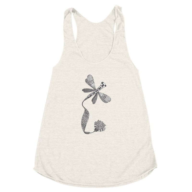 Stylish Dragonfly Women's Racerback Triblend Tank by Cutedesigning's Artist Shop