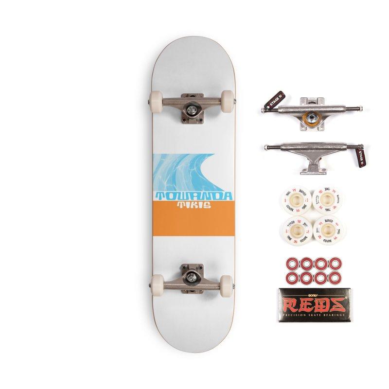 Towanda Tikis Logo Accessories Skateboard by Cy The Elephart's phArtist Shop