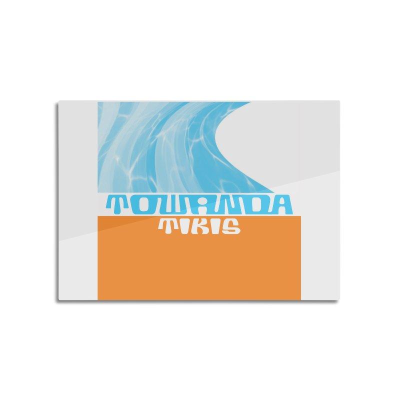 Towanda Tikis Logo Home Mounted Aluminum Print by Cy The Elephart's phArtist Shop