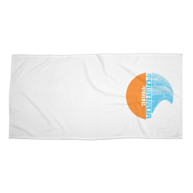 Towanda Tiki Circle Logo Accessories Beach Towel by Cy The Elephart's phArtist Shop