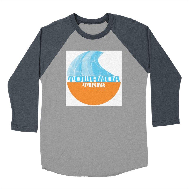 Towanda Tiki Circle Logo Women's Baseball Triblend Longsleeve T-Shirt by Cy The Elephart's phArtist Shop