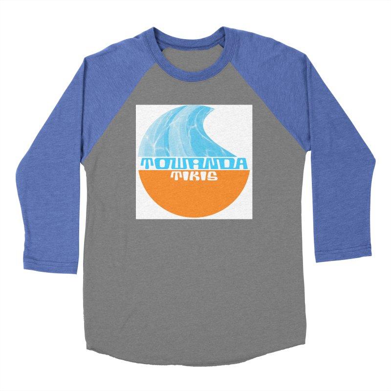 Towanda Tiki Circle Logo Men's Baseball Triblend Longsleeve T-Shirt by Cy The Elephart's phArtist Shop