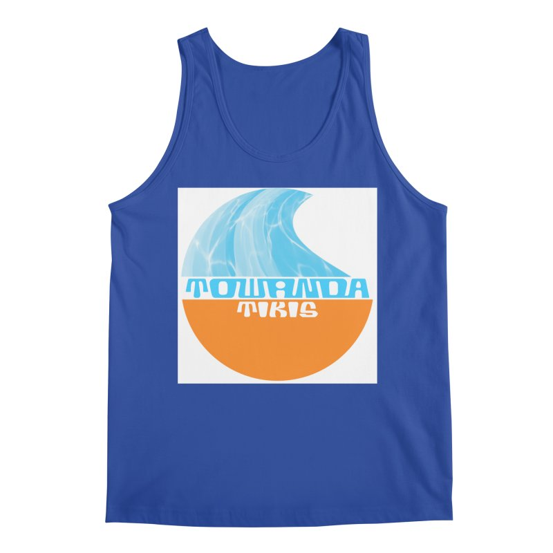 Towanda Tiki Circle Logo Men's Tank by Cy The Elephart's phArtist Shop