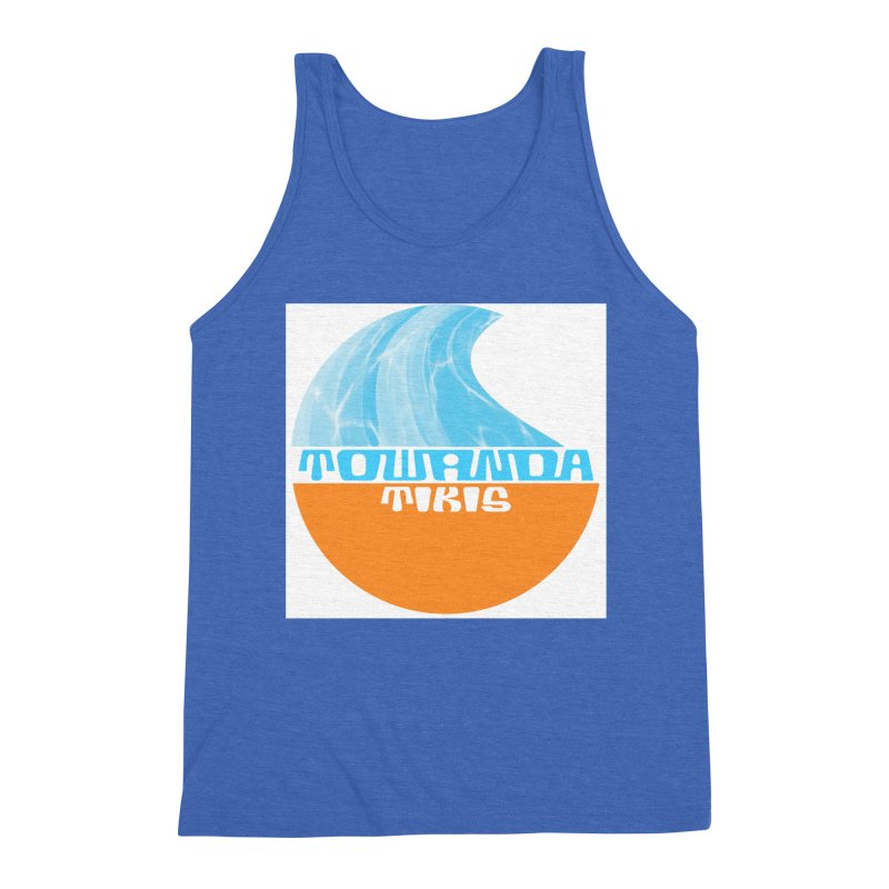 Towanda Tiki Circle Logo Men's Triblend Tank by Cy The Elephart's phArtist Shop