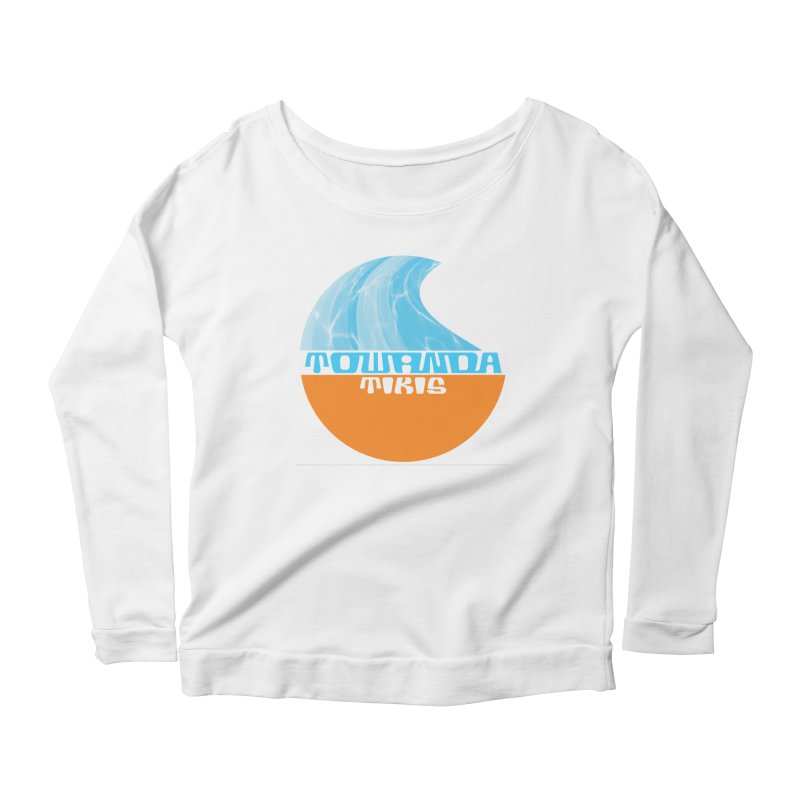 Towanda Tiki Circle Logo Women's Scoop Neck Longsleeve T-Shirt by Cy The Elephart's phArtist Shop