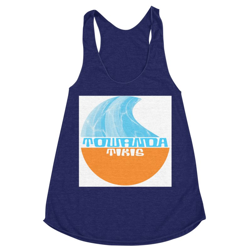Towanda Tiki Circle Logo Women's Racerback Triblend Tank by Cy The Elephart's phArtist Shop
