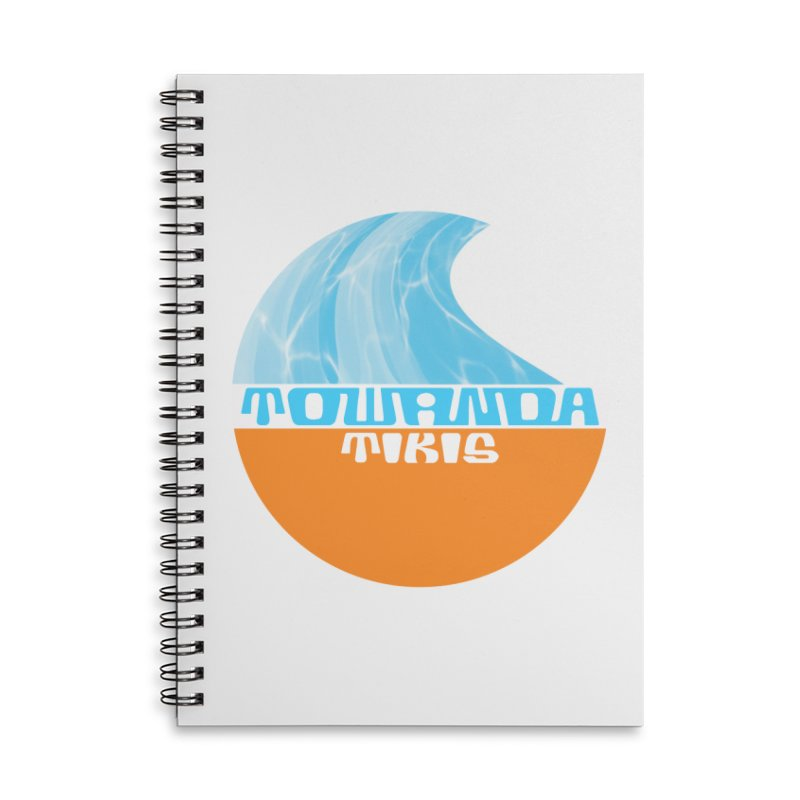 Towanda Tiki Circle Logo Accessories Lined Spiral Notebook by Cy The Elephart's phArtist Shop
