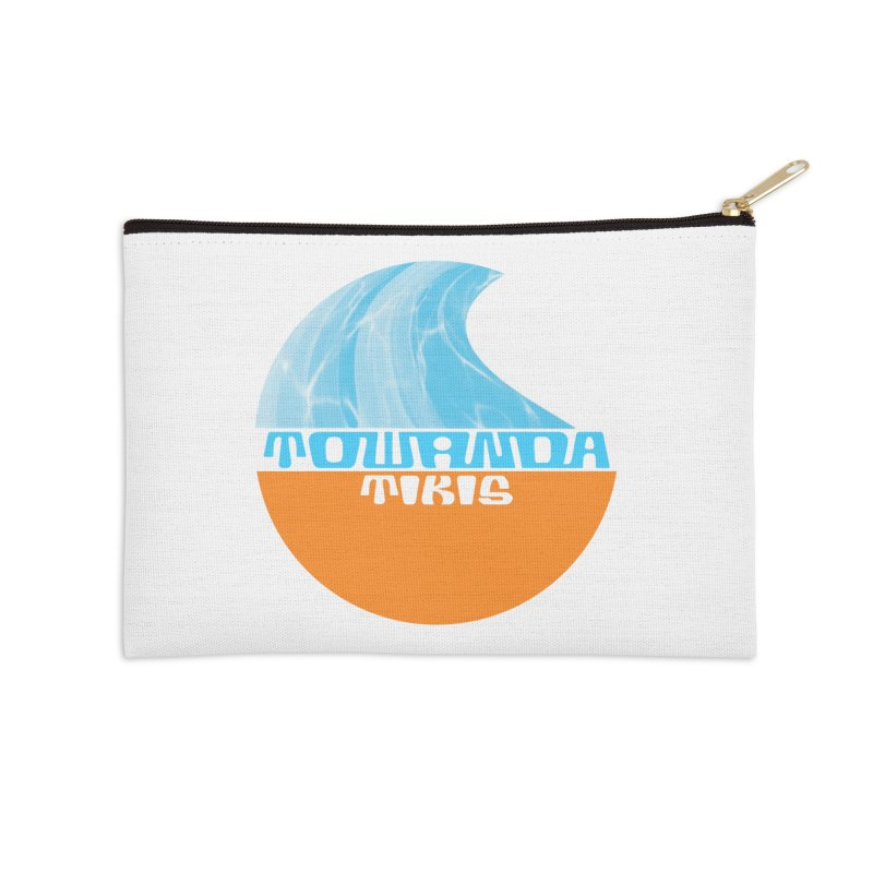 Towanda Tiki Circle Logo Accessories Zip Pouch by Cy The Elephart's phArtist Shop