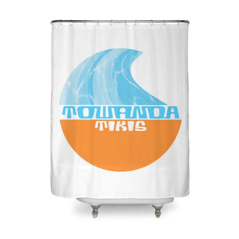 Towanda Tiki Circle Logo Home Shower Curtain by Cy The Elephart's phArtist Shop