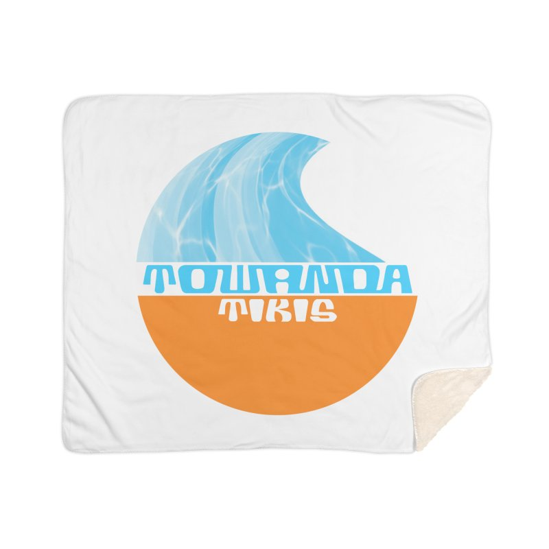 Towanda Tiki Circle Logo Home Sherpa Blanket Blanket by Cy The Elephart's phArtist Shop