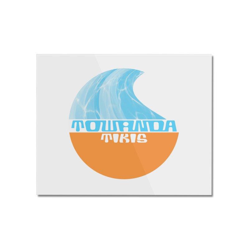 Towanda Tiki Circle Logo Home Mounted Acrylic Print by Cy The Elephart's phArtist Shop