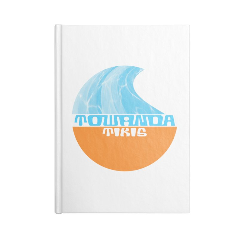 Towanda Tiki Circle Logo Accessories Blank Journal Notebook by Cy The Elephart's phArtist Shop